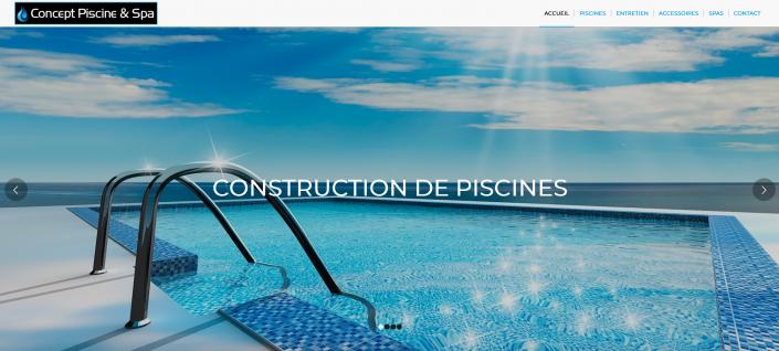 Création de site internet Concept Piscine et Spa La Brede 33